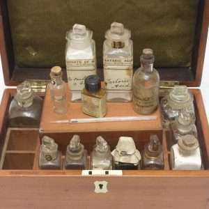 Mahogany chemist sample case, Early 1900