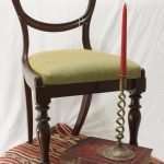 Mahogany Reeded leg dining chair, circa 1800s