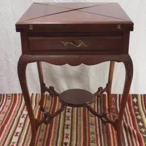 Mahogany Envelope Card Table, Circa 1910