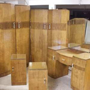 Five piece Art Deco Suite, Circa 1930