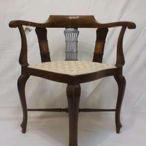 Edwardian Mahogany Corner Chair, Circa 1900s