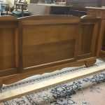 French Bed in solid walnut c1930