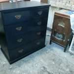 Painted antique pine chest of drawers
