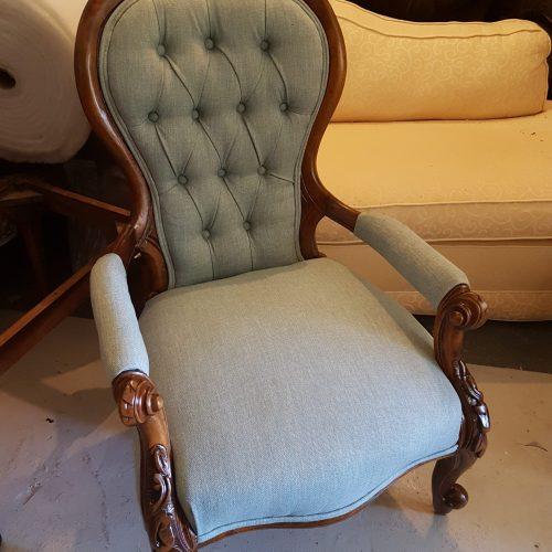Spoon back armchair