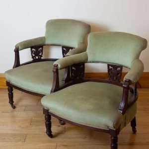 Pair of Edwardian tub chairs, Circa 1900s
