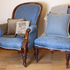 Matching Armchair and Nursing chair, Circa 1880s (Copy)