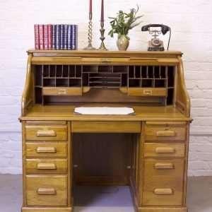 Oak Roll top desk, Circa 1920