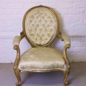Victorian walnut armchair, Circa 1860s